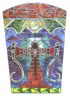 Heretic Mage Stained Glass Mirror